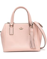 Kate Spade Tasselled Textured-leather Shoulder Bag Baby Pink