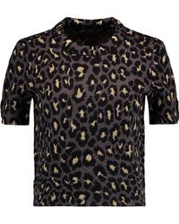 Marc By Marc Jacobs - Metallic Jacquard-knit Wool-blend Jumper - Lyst