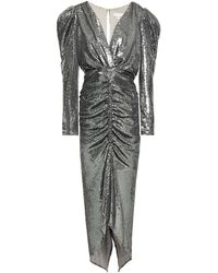 Ronny Kobo Cutout Ruched Sequined Stretch-mesh Gown - Multicolour