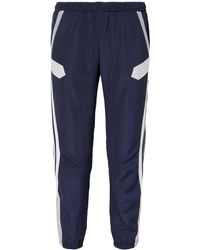 Preen By Thornton Bregazzi Nicole Striped Shell Track Pants Navy - Blue