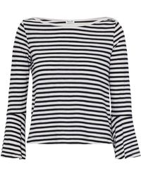 Splendid - Striped Jersey Top - Lyst