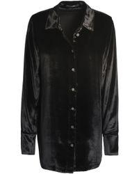 J Brand - Woman Chenille Shirt Black - Lyst