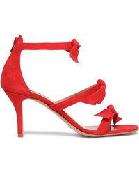 Iris & Ink - Antonia Knotted Suede Sandals - Lyst