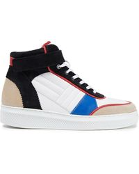 Claudie Pierlot Altoh Color-block Leather And Suede High-top Trainers - White