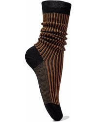 M Missoni - Striped Ribbed Merino Wool Socks - Lyst