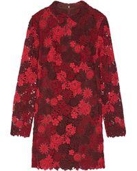 Valentino | Cotton-blend Guipure Lace Dress | Lyst