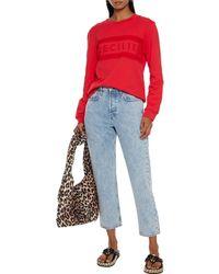 Cecilie Copenhagen Cecilie Copenhagen Ila Printed Organic French Cotton-terry Sweatshirt - Red