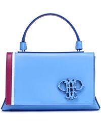 Emilio Pucci - Color-block Leather Tote Light Blue - Lyst