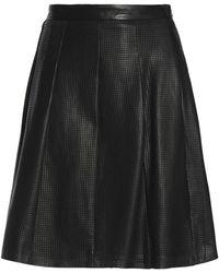 Muubaa - Pleated Perforated Leather Skirt - Lyst