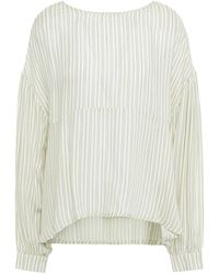 American Vintage Striped Twill Top - Multicolour