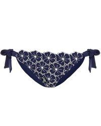 I.D Sarrieri Broderie Anglaise Low-rise Bikini Briefs - Blue