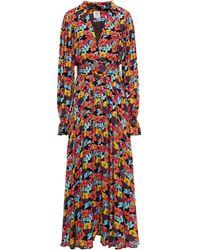 Gül Hürgel Gül Hürgel Belted Floral-print Woven Maxi Dress - Black