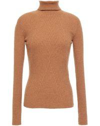Maje Ribbed-knit Turtleneck Jumper - Multicolour