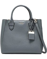 Kate Spade Woman Textured-leather Tote Gray - Gris