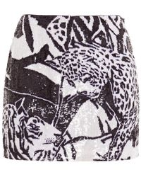 retroféte Retrofête Minirock Aus Chiffon Mit Pailletten Animal-print - Mehrfarbig