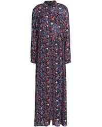 Just Cavalli - Printed Crepe Maxi Dress - Lyst
