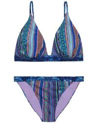 Matthew Williamson Stretch-knit Bikini - Blue