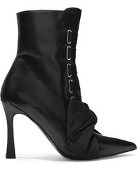 Tabitha Simmons Farren Bow-embellished Leather Ankle Boots - Black
