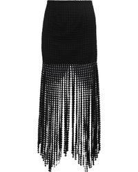 Goen.J - Fringed Cotton Guipure Lace Mini Skirt - Lyst