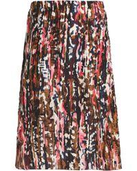 Marni - Printed Silk Skirt - Lyst
