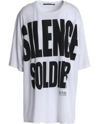Haider Ackermann - Oversized Printed Cotton-jersey T-shirt - Lyst