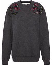 Markus Lupfer - Embroidered Cotton-fleece Sweatshirt - Lyst