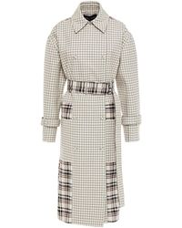 Proenza Schouler Double-breasted Checked Twill Trench Coat - Multicolour