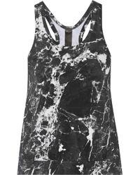 Norma Kamali | Printed Stretch-jersey Tank | Lyst