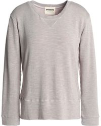 Monrow - Mélange French Terry Sweatshirt - Lyst
