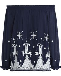Joie - Off-the-shoulder Embroidered Cotton Top - Lyst