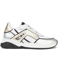 Claudie Pierlot Affinity Metallic Leather And Mesh Trainers - White
