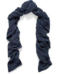 Autumn Cashmere - Marled Cashmere Scarf Midnight Blue - Lyst