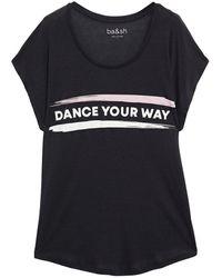 Ba&sh Printed Lyocell And Cotton-blend T-shirt - Black