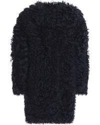 Karl Donoghue Shearling Coat Midnight Blue