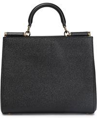 Dolce & Gabbana - Textured-leather Shoulder Bag - Lyst