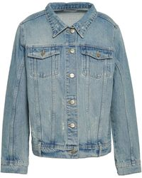 Anine Bing Faded Denim Jacket Light Denim - Blue