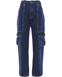House of Holland High-rise Wide-leg Jeans Mid Denim - Blue