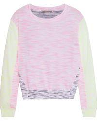 Cotton by Autumn Cashmere Color-block Mélange Cotton-blend Jumper - White