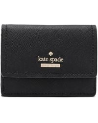 Kate Spade Textured-leather Wallet Black