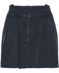 JW Anderson - Gathered Cotton-canvas Mini Skirt - Lyst