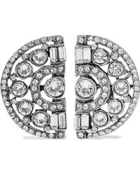 Ben-Amun - Woman Silver-plated Crystal Clip Earrings Silver Size -- - Lyst