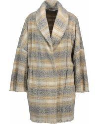 IRO - Frayed Bouclé Wool-blend Coat Pastel Yellow - Lyst