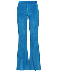 Rosie Assoulin Cotton-blend Corduroy Flared Trousers Bright Blue