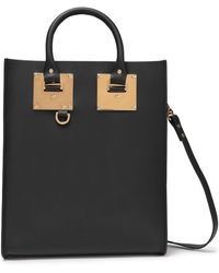 Sophie Hulme Albion Mini Leather Tote Black