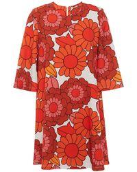 Dodo Bar Or Printed Crepe Mini Dress Orange