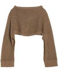 Chalayan - Open-knit Poncho Light Brown - Lyst
