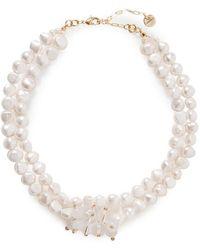 Anita Berisha Tone, Pearl And Quartz Necklace - Metallic