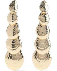 Noir Jewelry - On The Half Shell 14-karat Gold-plated Earrings Gold - Lyst