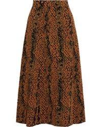 Ulla Johnson Nina Jacquard-knit Wool Midi Skirt - Brown
