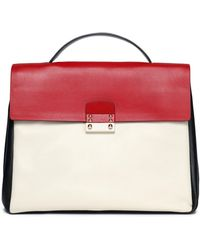 Valentino - Mime Color-block Leather Tote - Lyst